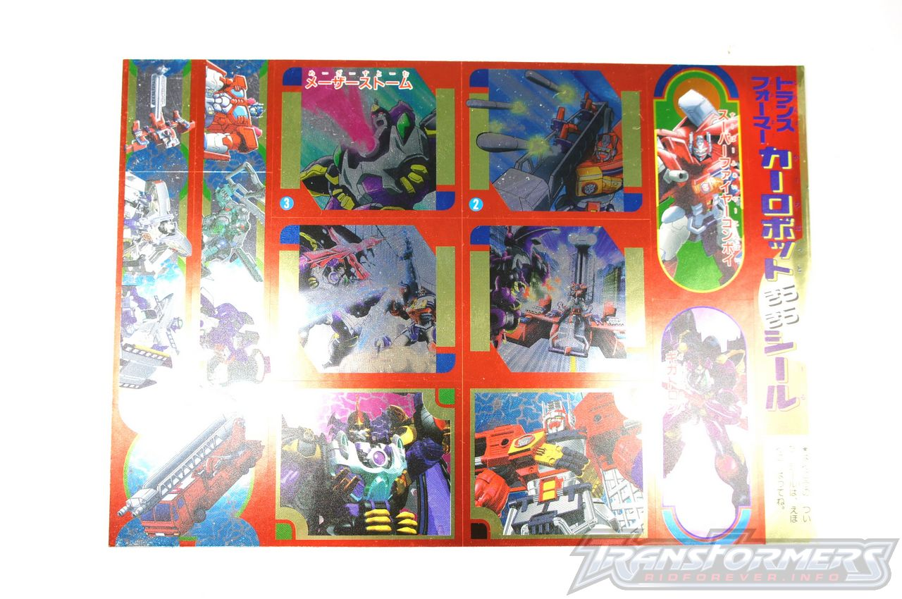Car Robots Sticker Book 02