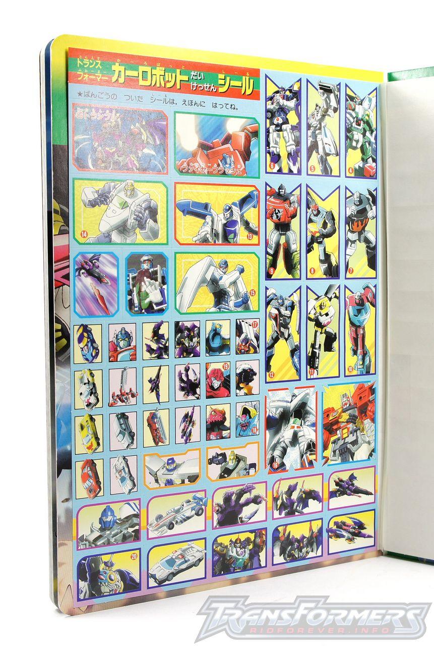Car Robots Sticker Book 05