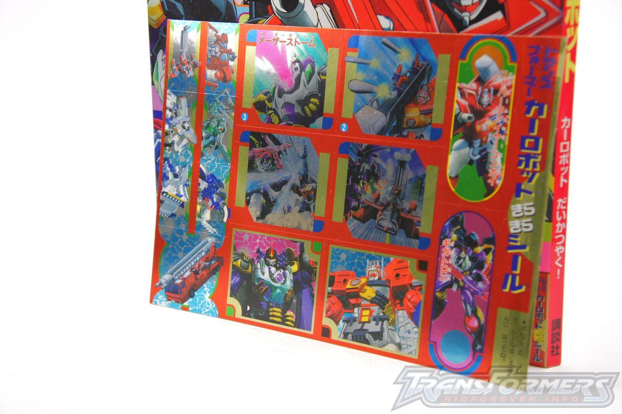Car Robots Sticker Book 03